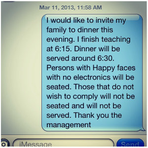 family dinner invitation